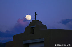 Full moon over Taos, new mexico
